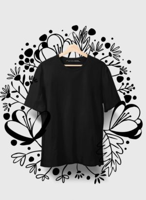 BLACK PLAIN MEN TSHIRT