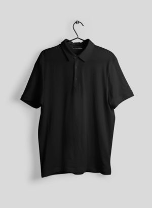BLACK PLAIN POLO MEN TSHIRT