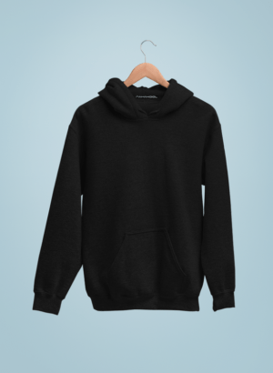 BLACK PLAIN HOODIES WOMEN
