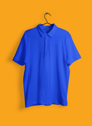 ROYAL BLUE PLAIN POLO MEN TSHIRT