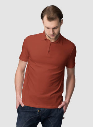 COFFEE PLAIN POLO MEN TSHIRT
