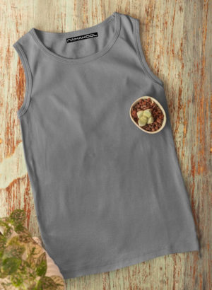 DARK GREY PLAIN  VEST MEN TSHIRT