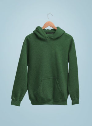GREEN  PLAIN HOODIES MEN