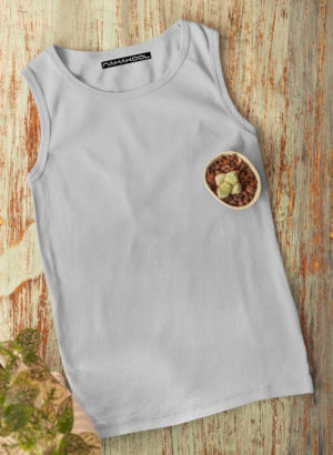 GREY PLAIN  VEST MEN TSHIRT