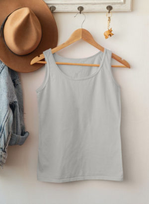 GREY PLAIN TANK TOP WOMEN