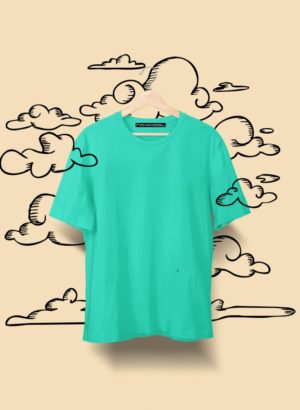 LIGHT GREEN PLAIN MEN TSHIRT