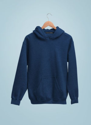 NAVY BLUE PLAIN HOODIES MEN