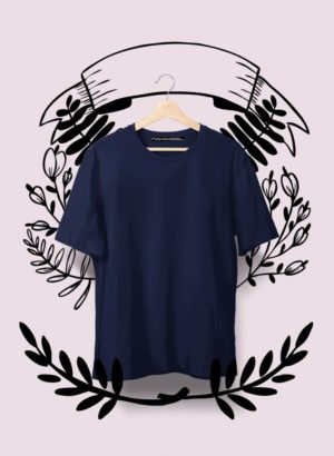 NAVY BLUE PLAIN MEN TSHIRT