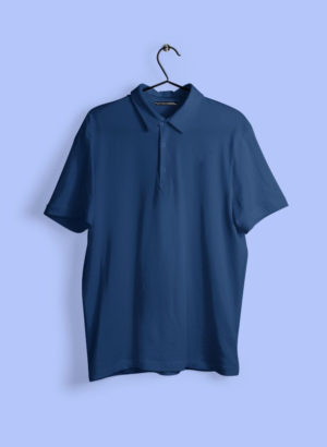 NAVY BLUE PLAIN POLO MEN TSHIRT