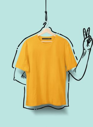 ORANGE PLAIN MEN TSHIRT