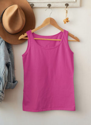 PINK PLAIN TANK TOP WOMEN