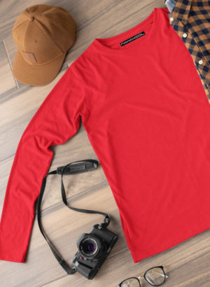 NAVY BLUE PLAIN FULL SLEEVES MEN TSHIRT