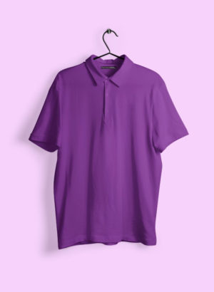 VOILET PLAIN POLO MEN TSHIRT