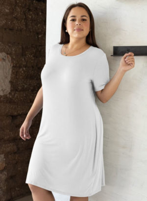WHITE PLAIN LONG DRESS WOMEN